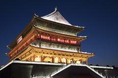 打鼓塔XI的`, XI街市`中国的陕西 库存图片