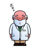 打鼾的科学家睡觉和 向量例证