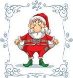 打破了圣诞老人动画片 皇族释放例证