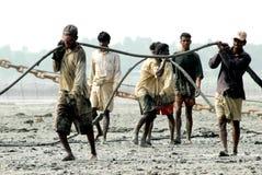 打破在孟加拉国的船 库存图片