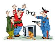 打破安全拘捕手铐的盗案 皇族释放例证