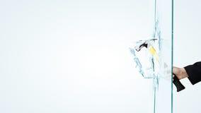 打破玻璃的人 免版税库存照片