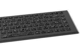 黑打破的键盘 免版税库存照片