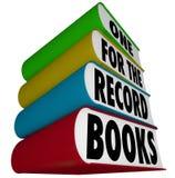 打破速度结果的一正式记录在案书最佳的表现 免版税库存照片
