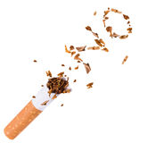 打破香烟,停止抽烟 免版税库存图片
