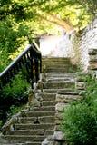 扔石头的台阶 库存照片
