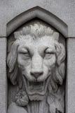 扔石头的狮子 免版税库存照片
