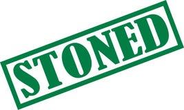 扔石头的邮票绿色 图库摄影