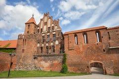 托伦中世纪建筑学城市在波兰 库存照片