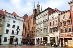 托伦是其中一个最旧的城市在波兰 库存照片