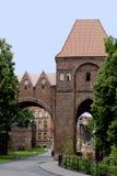 托伦老城市墙壁在波兰 免版税图库摄影