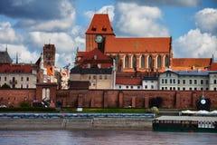 托伦老镇在波兰 免版税库存图片
