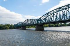 托伦著名桁架桥,波兰 图库摄影