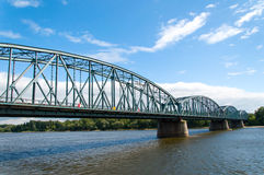 托伦著名桁架桥,波兰 免版税库存照片