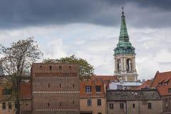 托伦,波兰- 2016年5月18日:托伦在波兰,老镇地平线, 免版税库存照片