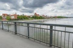 托伦,波兰- 2016年5月18日:托伦在波兰,老镇地平线, 免版税图库摄影