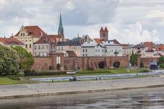 托伦,波兰- 2016年5月18日:托伦在波兰,老镇地平线, 库存图片