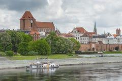 托伦,波兰- 2016年5月18日:托伦在波兰,老镇地平线, 库存照片