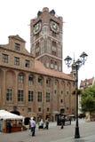 托伦-波兰的市政厅 库存图片