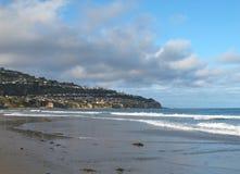 托兰斯海滩和帕洛斯Verdes半岛看法在加利福尼亚 免版税库存图片
