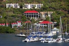托尔托拉岛水前面 免版税图库摄影