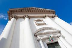 托尔梅佐,圣马蒂诺教会  免版税库存照片