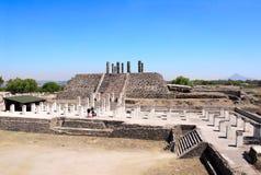 托尔特克Atlantes,图拉de亚伦得,绅士状态,墨西哥 库存照片