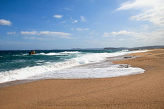 托尔蒂岛的海滩 免版税库存照片