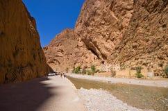 托德拉峡谷在摩洛哥 免版税图库摄影
