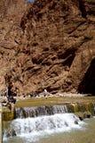 托德拉的河在摩洛哥狼吞虎咽 库存照片