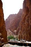 托德拉的河在摩洛哥狼吞虎咽 免版税库存照片