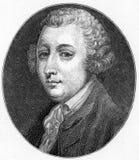 托拜厄斯乔治Smollett、苏格兰诗人和作者 库存例证