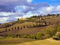 托斯卡纳农业乡下在意大利 库存图片