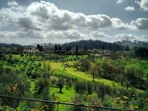 托斯卡纳在春天,佛罗伦萨 库存照片