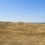 托斯卡纳的倾斜的小山 图库摄影