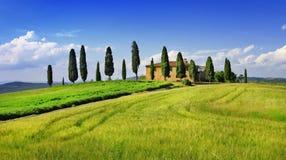 托斯卡纳的美好的风景 意大利 免版税库存照片