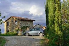 托斯卡纳的,意大利乡间别墅 免版税库存照片