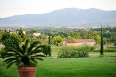 托斯卡纳美好的全景。意大利 免版税图库摄影