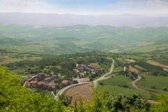 托斯卡纳风景。拉迪科法尼,意大利 免版税图库摄影