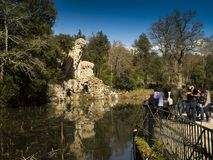 托斯卡纳,佛罗伦萨, Pratolino,别墅Demidoff公园  库存图片