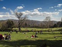 托斯卡纳,佛罗伦萨, Pratolino,别墅Demidoff公园  免版税图库摄影