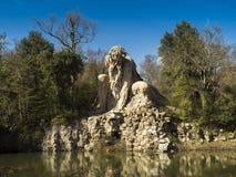 托斯卡纳,佛罗伦萨, Pratolino,别墅Demidoff公园  免版税库存图片