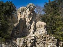 托斯卡纳,佛罗伦萨, Pratolino,别墅Demidoff公园  库存照片
