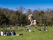 托斯卡纳,佛罗伦萨, Pratolino,别墅Demidoff公园  免版税库存照片