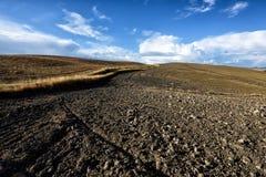 托斯卡纳,天堂的小山是下L 库存图片