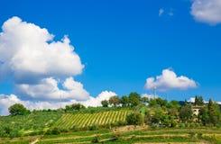 托斯卡纳,意大利农村风景 免版税库存图片