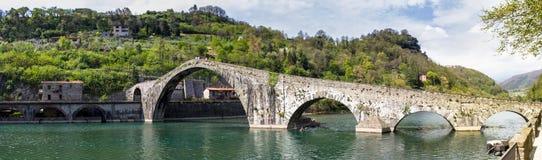 托斯卡纳,马德林桥梁,亦称,恶魔 图库摄影