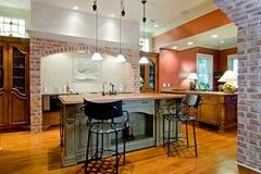 托斯坎样式厨房 免版税库存照片
