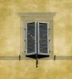 托斯坎建筑学典型的窗口。锡耶纳,意大利 免版税库存图片