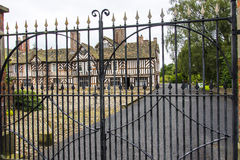 托特Façade、广泛的Adlington霍尔庭院和地面在彻斯特 免版税库存图片